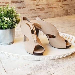Moda Spana Slingback Suede Heel Sandals